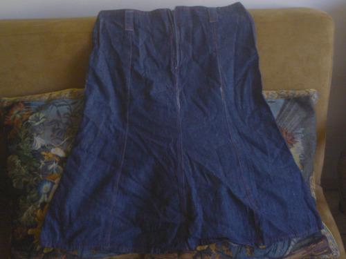 falda de jeans oscuro  delgada  a la cintura talla 38