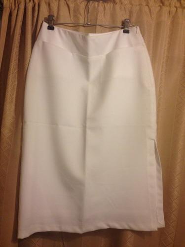 falda de mujer color blanco talla 42