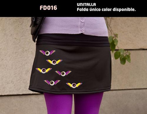 falda de mujer con diseño de ojos con alas envío gratis dhl