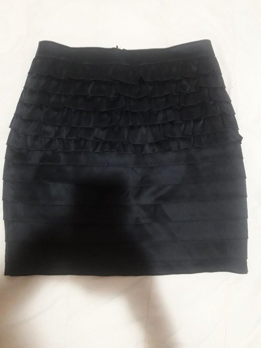 Falda De Razo Con Olanes Negra -   469.00 en Mercado Libre 4b449e4a2c98