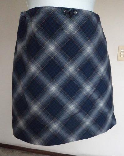 falda de rombos azul-gris linea a talla xs  fch328