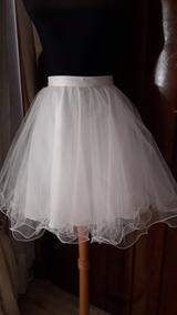 4b315caf36 Maxi Faldas Tul - Polleras Cortas de Mujer Blanco en Mercado Libre ...