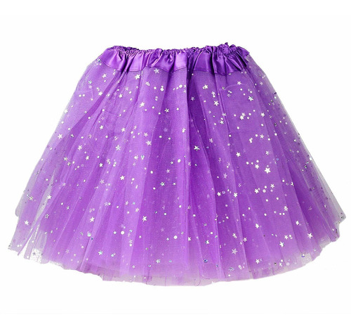 falda de tutu de lentejuelas con juego diadema collar neon y