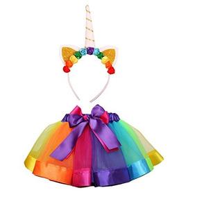 76d677178 Falda De Tutú Rainbow De Aiviai Para Niñas Vestido De Tutu C