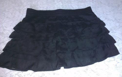falda de vuelos negra talla l