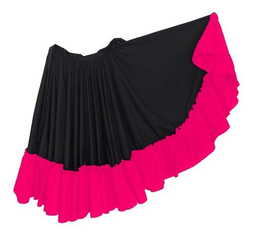 falda dedanza folclórica doble circular combinada  niña 8a14