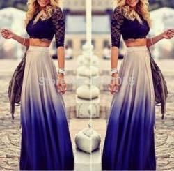 falda degrade solo talla s oferta