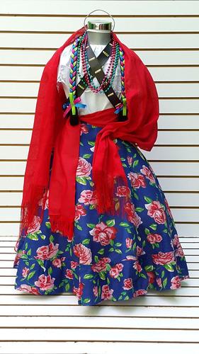 falda disfraz adelita traje revolucion blusa olanes revol.