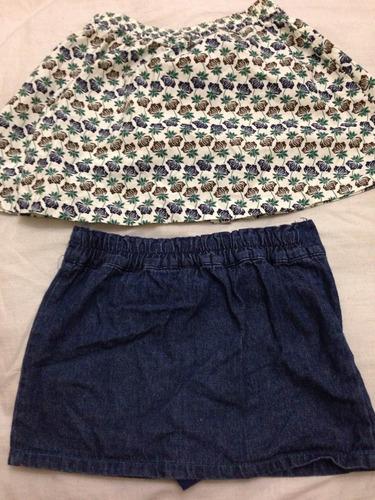 falda disney talla 5 y kid cool talla 4. usadas