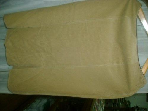 falda  elegante fino cotelè cafe claro,zara woman ,talle 40