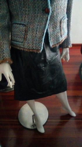 falda en cuero para dama talla l