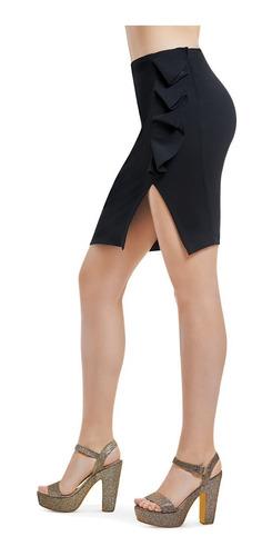 falda entallada negra tipo lapiz devendi denim co.