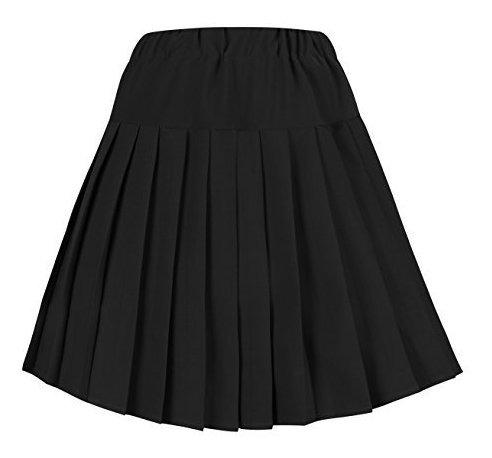falda escolar plisada de tartán de cintura elástica urban