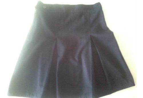 falda escolar plisada talla 8