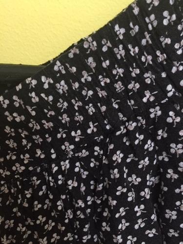 falda estampada mng - talla l - original excelente estado
