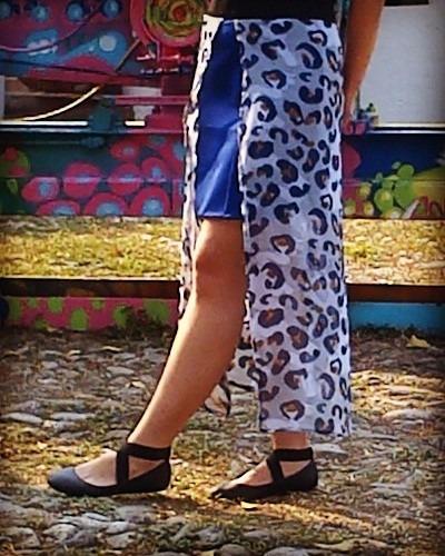 falda estampada talla m