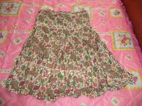 0ec2f43d70 Falda Etnica Hippie Hindu Estampada De Flores Dama M