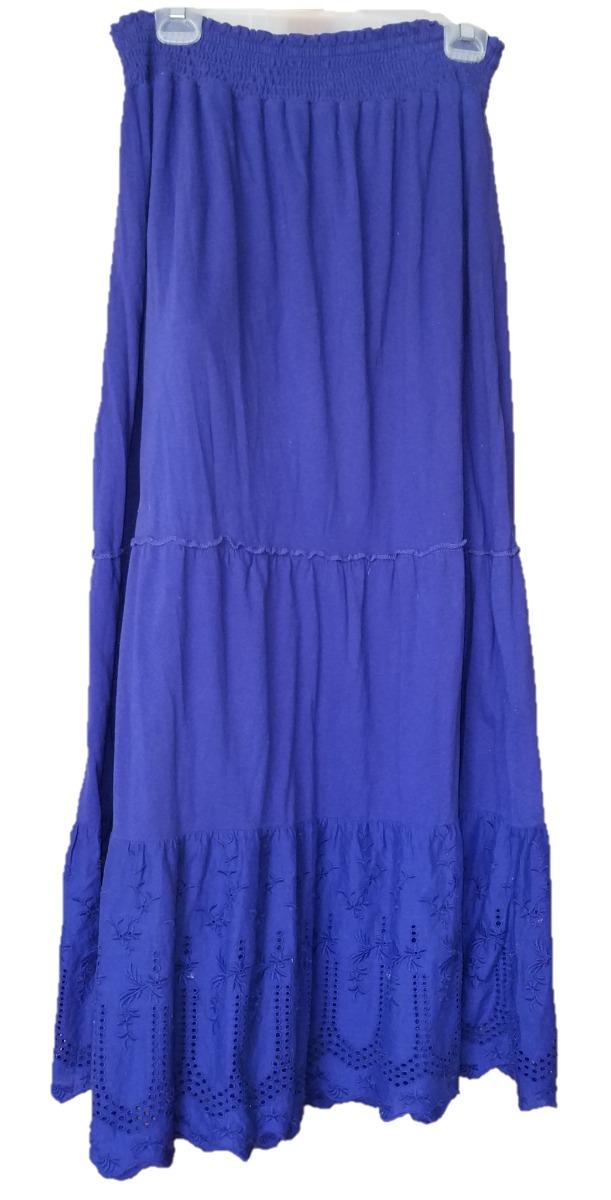 b2ce5331e1 maxi falda mca izod color azul dama gitana falda larga t m. Cargando  zoom... falda falda larga. Cargando zoom.