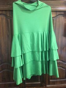 ce5cee70e Falda Flamenco Recta Verde Claro Usada Buen Estado