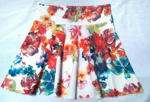 falda floreadas acampanadas skater verano cuero