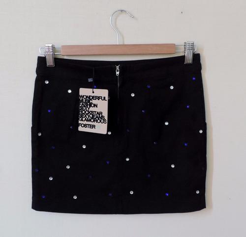 falda foster negra con lentejuelas