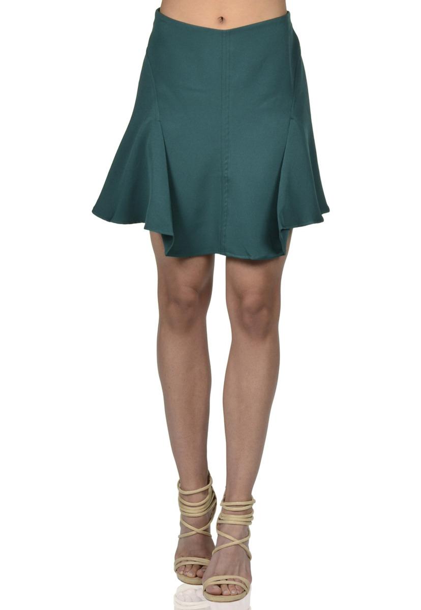 510d641e8 Falda Godet De Mujer Exotik Ew171-1115-785 Verde