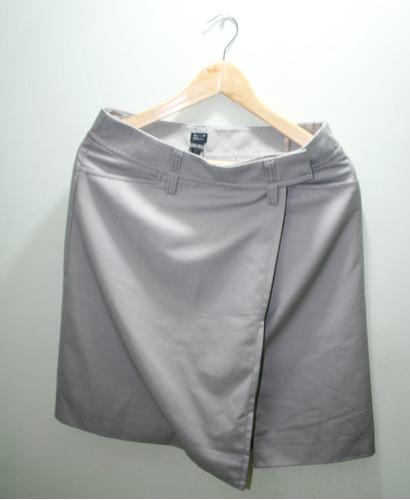 falda gris usada marca esprit