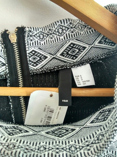 falda h& m original diseño geometric para dama