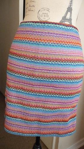 falda hilo tejido colores con forro