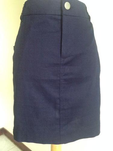falda importada gap color azul marino talla 6.