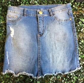 a4593f90e Faldas Media Rodilla Jeans - Ropa y Accesorios de Mujer Celeste en ...