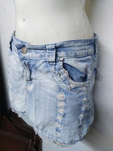 falda jean usada