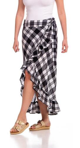 falda larga a cuadros 63st1840
