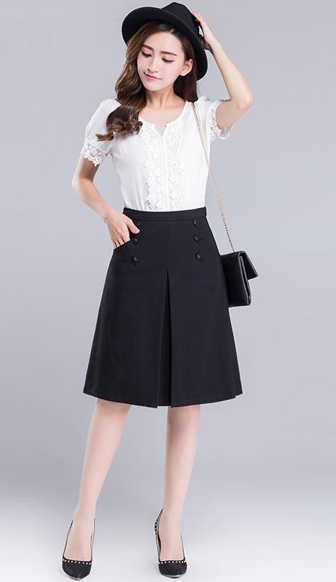 1498b75cc1 falda larga bolsillo boton - ropa cristiana. Cargando zoom.