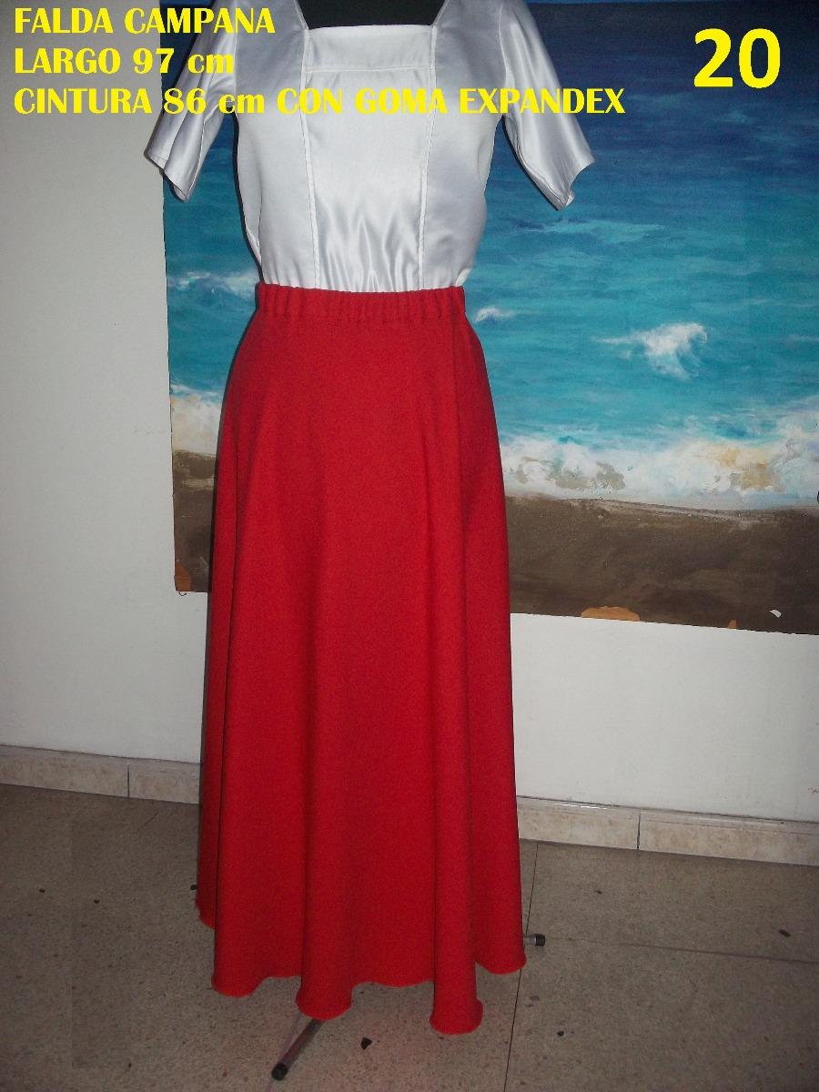gran selección de 5f3cf ee185 Falda Larga Campana Roja Moda Loligo #15