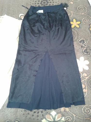 falda larga casual negra talla 30.