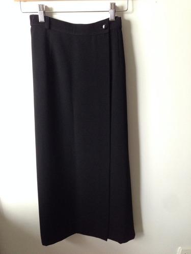 falda larga color negro - talla m