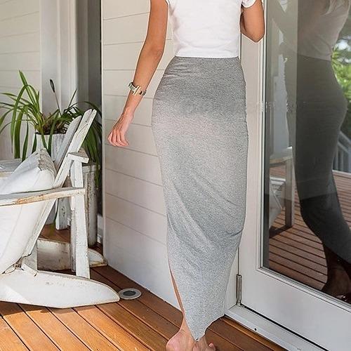 falda larga cruzada