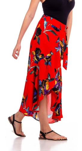 falda larga cruzada flores 63st1855