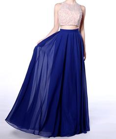 0ccb289f4b Faldas Circulares Largas Fiesta - Faldas Azul al mejor precio en ...