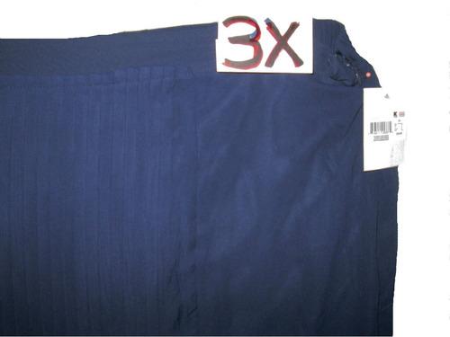 falda larga de gala azul marino talla 3x  42/44mex.jakeline