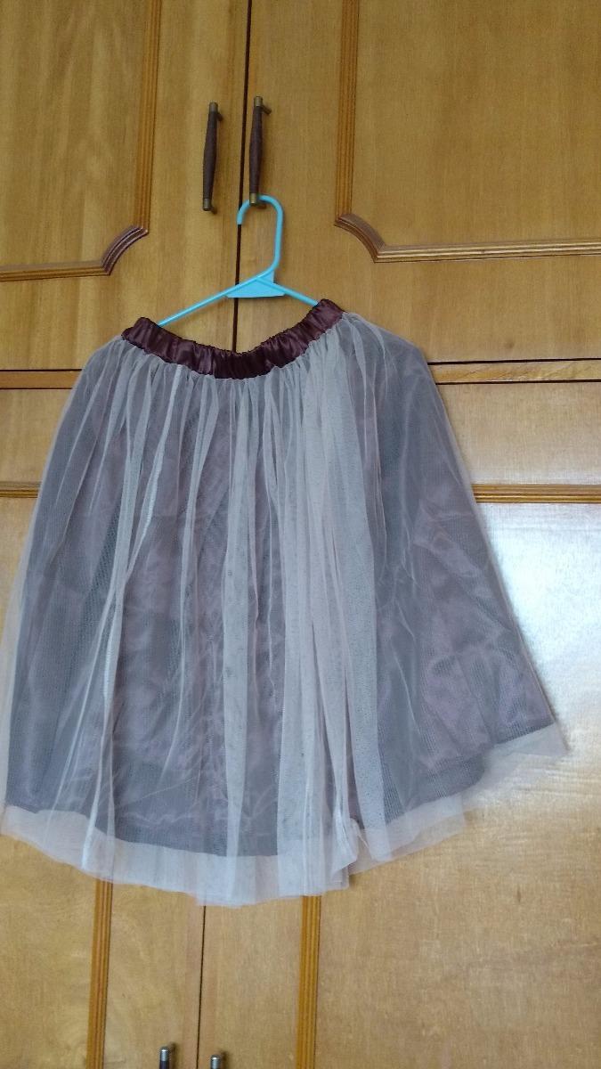 e026d6655f falda larga de tul tipo tutú baile ballet dama color café. Cargando zoom.