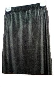 44c519af1 Falda Larga Midi Moda Elegante Metalizada Plisada Negro