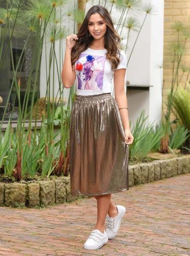 falda larga outfit 963 para mujer planteado