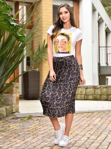 falda larga outfit 988 para mujer negro