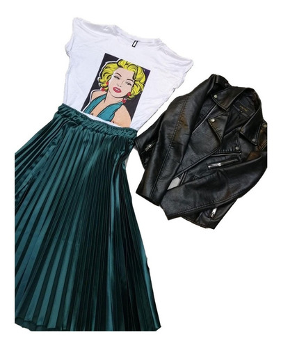 falda larga para mujer diseño moderno juvenil f.24