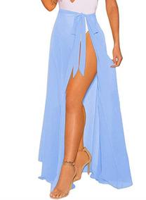 diferentemente 4cf91 3fda4 Faldas Largas Baratas Modernas - Faldas Azul claro al mejor ...