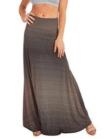 9db606b92d Falda Maxi Con Estampado De Mujer Chevron De Lock And Love W
