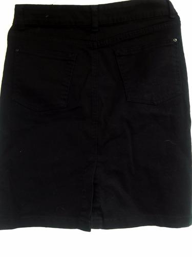 falda mezclilla negra
