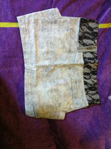 falda mezclilla talla s